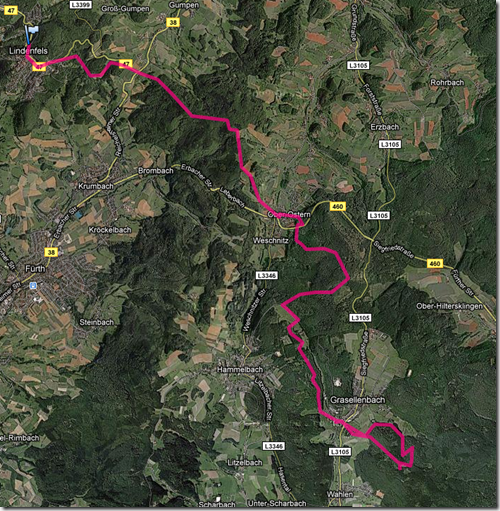 Nibelungensteig Route